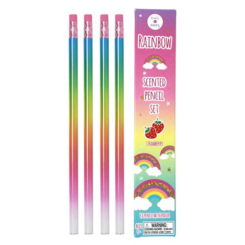 Rainbow Scented Pencils - 4 Pack