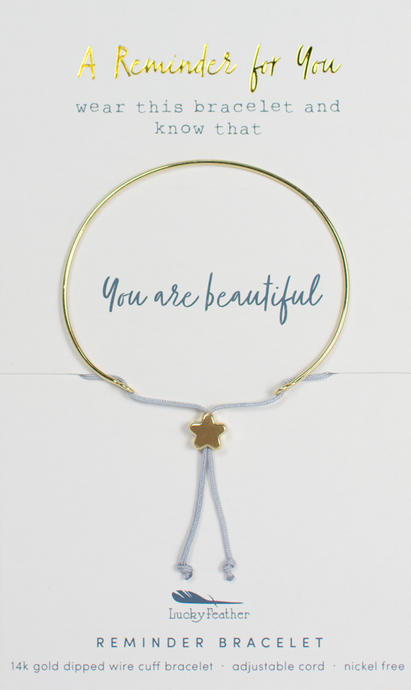 Gold Beautiful Reminder Bracelet