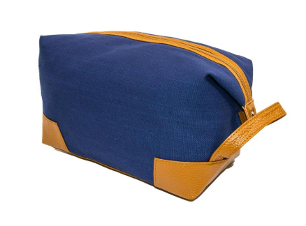 Mens Navy Dopp Kit