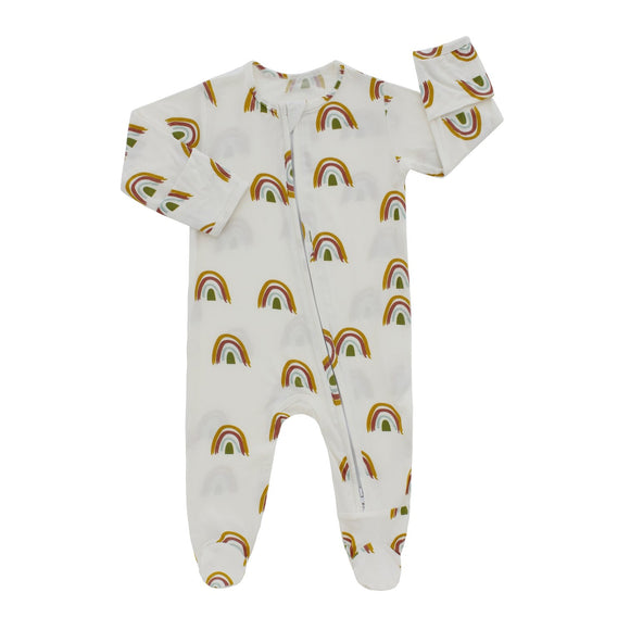 Rainbow Bamboo Footed Romper Pajama