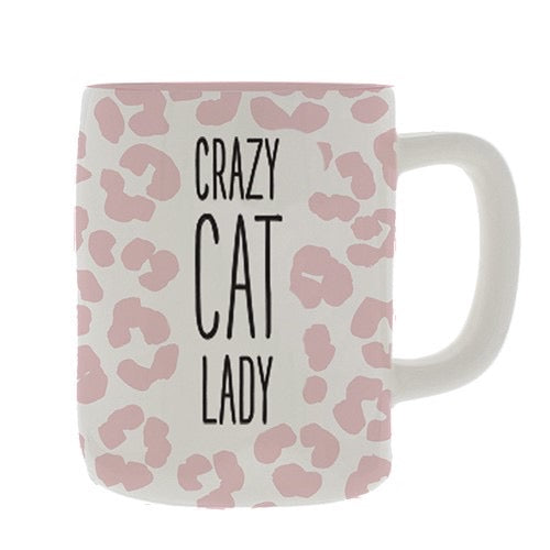 Ceramic Mug Organic Crazy Cat