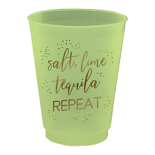 Salt Lime Tequila Cocktail Cups