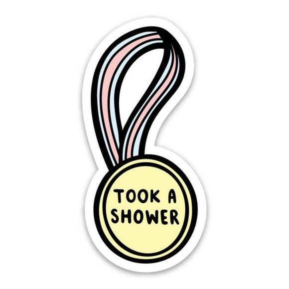 Took a Shower Sticker