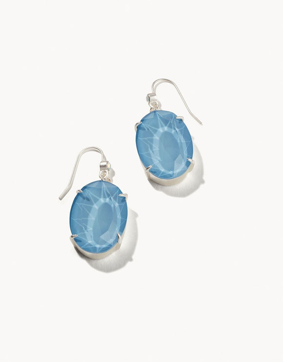 MG Oval Earrings Sky Blue