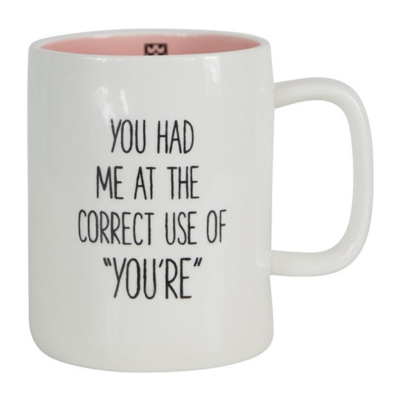 Ceramic Mug Organic Use of You're