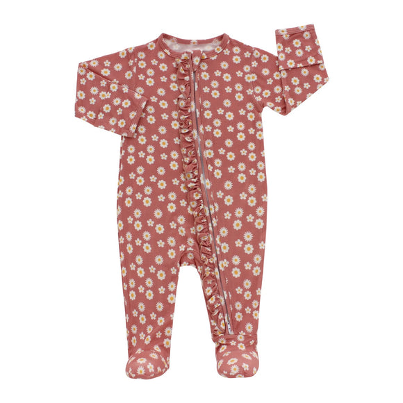 Rose Daisy Footed Romper Pajama