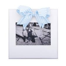 Light Blue Stripe Ribbon Frame