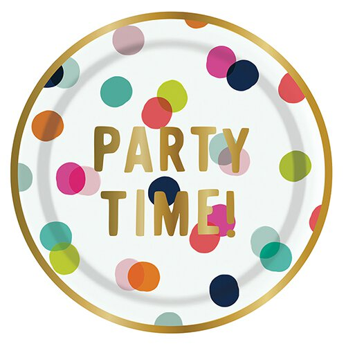 Party Time Dots Plate