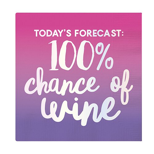 100% Chance Wine Napkin
