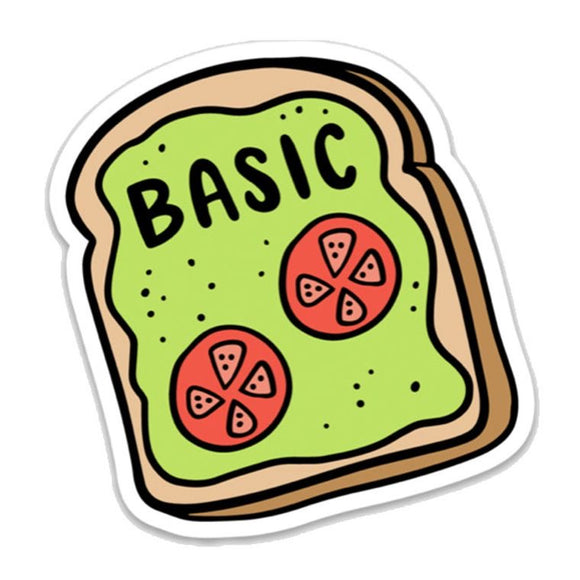 Avocado Toast Basic Sticker