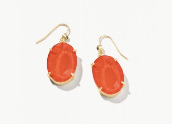 MG Oval Earrings Coral