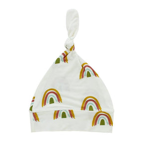 Cream Rainbow Hat