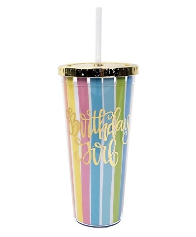 Straw Tumbler Birthday Girl