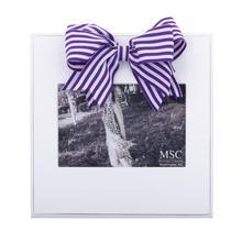 Purple Stripe Ribbon Frame