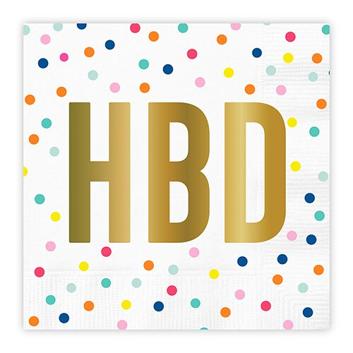 White Dot HBD Napkin