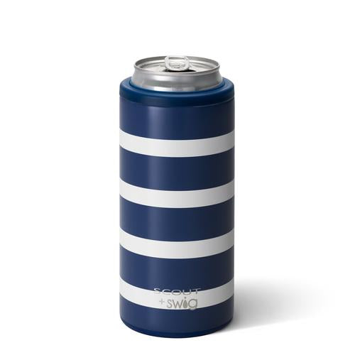 Swig Skinny Can Cooler Nantucket Navy