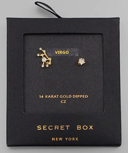 Virgo Earrings Star