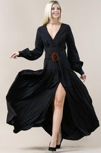 Load image into Gallery viewer, Belted Black Maxi
