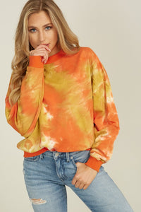TieDye Mock Neck Sweater