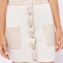 Load image into Gallery viewer, Le Lis Leather Mix Knitted Mini Skirt