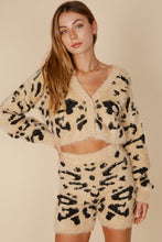 Load image into Gallery viewer, Fuzzy Leopard Biker Shorts