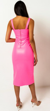 Load image into Gallery viewer, Neon Pink Bustier Dress