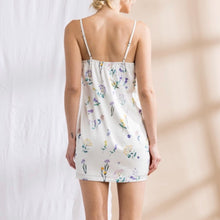Load image into Gallery viewer, Off White Floral Print Mini Dress