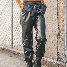 Load image into Gallery viewer, Leather Joggers