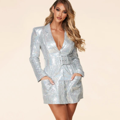 Sequin Blazer Dress