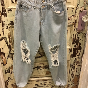 Distressed Jogger Jeans