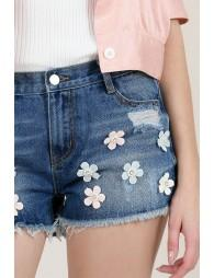 Flower Applique Short