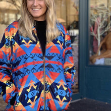 Load image into Gallery viewer, Aztec Print Fleece Jacket