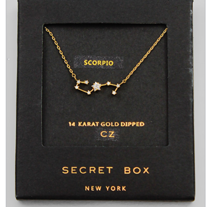 Scorpio Necklace Star