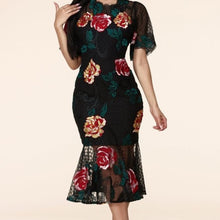 Load image into Gallery viewer, Lace Floral Embroidered Dress