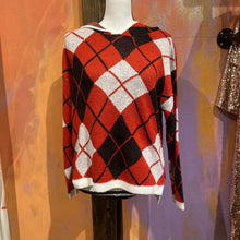 Load image into Gallery viewer, Red Plaid Hooded Sweater