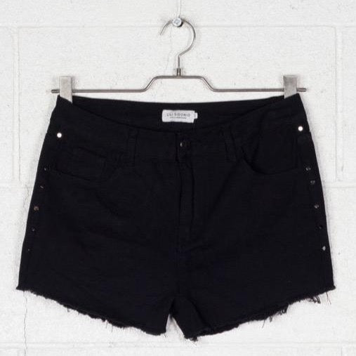 Black Studded Short