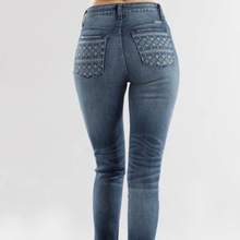 Load image into Gallery viewer, Super Skinny Printed Pocket Jean
