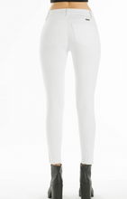 Load image into Gallery viewer, Mid Rise White Skinny Jean