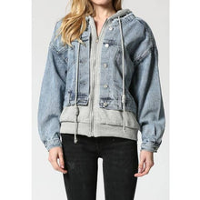 Load image into Gallery viewer, Hoodie Jean Jacket