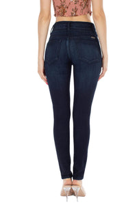 Isabella High Rise Button Skinny