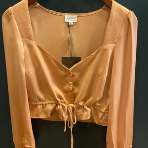 Le Lis Long Sleeve Button Front Top