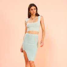 Load image into Gallery viewer, Mint Midi Skirt