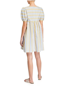 Stripe Puff Sleeve Dress
