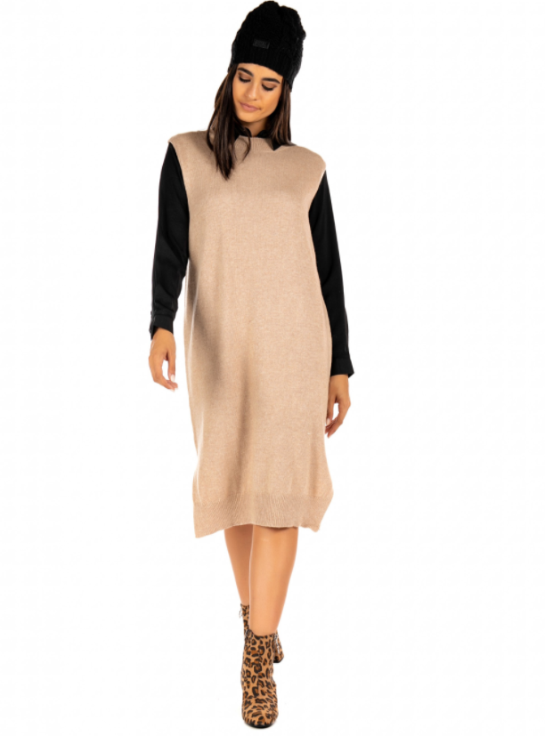Korner Mock Neck Dress