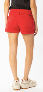 Hazel Mid Rise Red Short