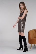 Load image into Gallery viewer, Mirrored Sequin LBD