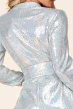 Load image into Gallery viewer, Sequin Blazer Dress