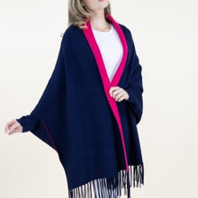 Load image into Gallery viewer, Reversible Blue/Pink Shawl