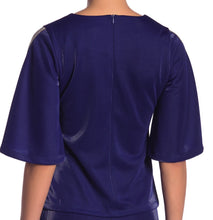 Load image into Gallery viewer, Blue Sparkle Bell Sleeve Top