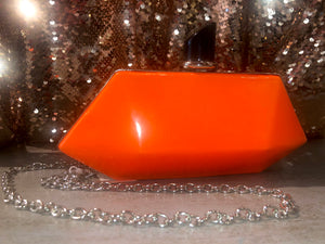 Patent Hexagon Perfume Bottle Style Neon Orange